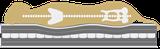 Waterproof Orthopaedic Mattress XL 140 x 90 cm burgundy