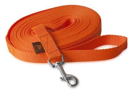 Firedog Tracking leash 20 mm classic snap hook 15 m orange