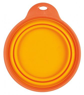 Trixie Travel Bowl, Silicone 1 l/18 cm orange